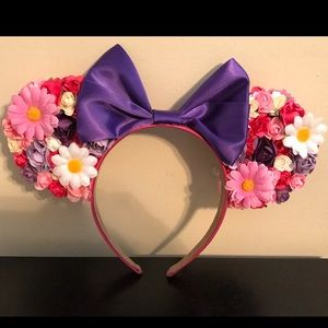 Never Worn Flowered Minnie Mouse Ears